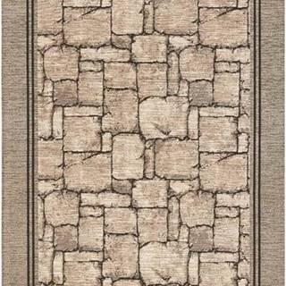 Béžový běhoun Floorita Wall, 55 x 115 cm