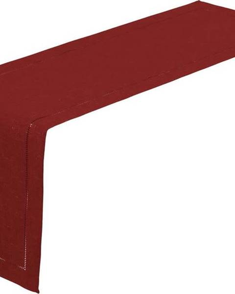 Unimasa Karmínově červený běhoun na stůl Unimasa, 150 x 41 cm