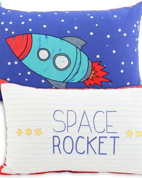 Mr. Fox Oboustranný bavlněný povlak na polštář Mr. Fox Space Rocket, 50x30cm