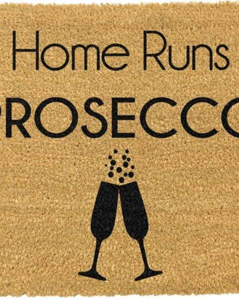 Artsy Doormats Rohožka z přírodního kokosového vlákna Artsy Doormats This Home Runs On Prosecco,40x60cm