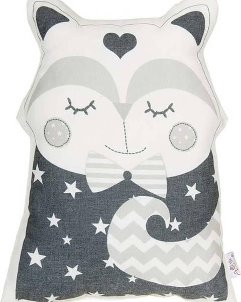 Mike & Co. NEW YORK Šedý dětský polštářek s příměsí bavlny Mike&Co.NEWYORK Pillow Toy Smart Cat, 23 x 33 cm