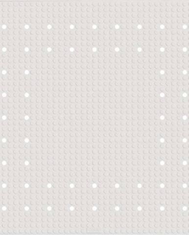 Bílá protiskluzová koupelnová podložka Wenko Mirasol, 54x54cm