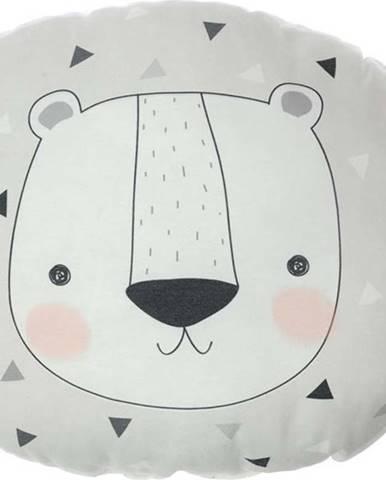 Dětský polštářek s příměsí bavlny Mike&Co.NEWYORK Pillow Toy Argo Bear, 30 x 33 cm