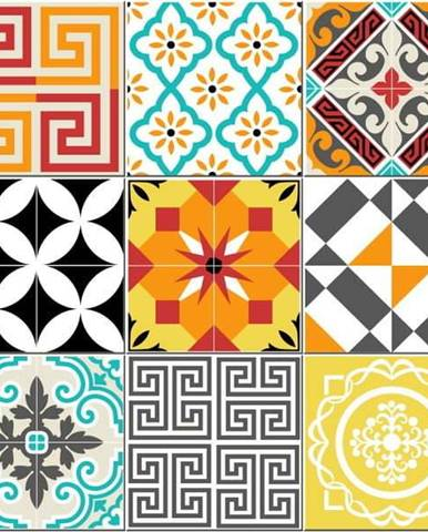 Odolný protiskluzový vinylový koberec Ambiance Bright Tile,60x100cm