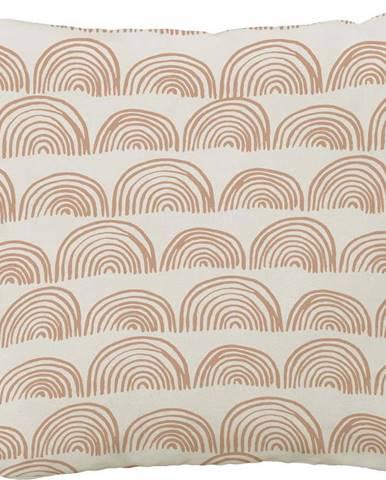 Povlak na polštář Butter Kings z bavlny Doodle Rainbows, 45x45cm