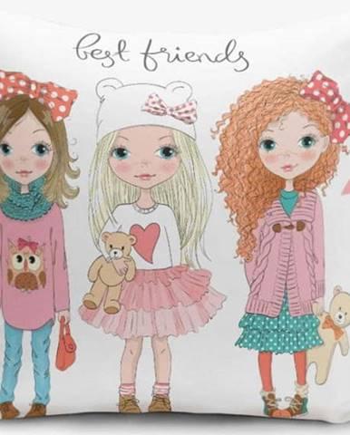 Povlak na polštář s příměsí bavlny Minimalist Cushion Covers Best Friends, 45 x 45 cm