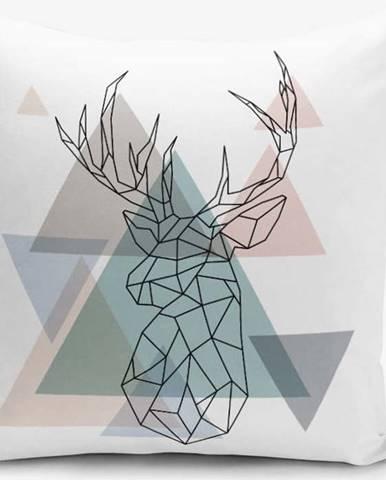 Povlak na polštář s příměsí bavlny Minimalist Cushion Covers Deer, 45 x 45 cm