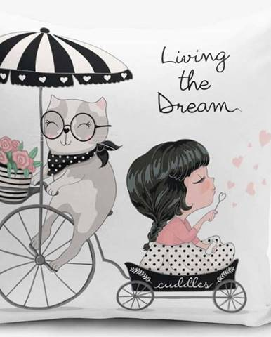 Povlak na polštář s příměsí bavlny Minimalist Cushion Covers Living Dream, 45 x 45 cm