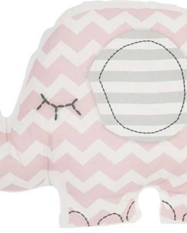 Růžový dětský polštářek s příměsí bavlny Mike&Co.NEWYORK Pillow Toy Elephant, 34 x 24 cm