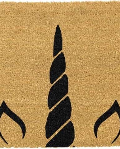 Rohožka z přírodního kokosového vlákna Artsy Doormats Unicorn Horn, 40x60cm