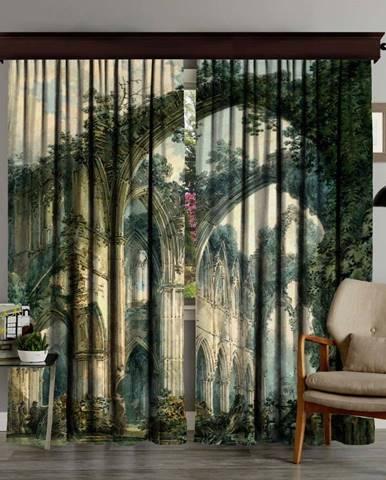 Sada 2 závěsů Curtain Runna, 140 x 260 cm