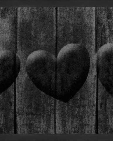 Šedá rohožka Hanse Home Hearts, 45 x 75 cm