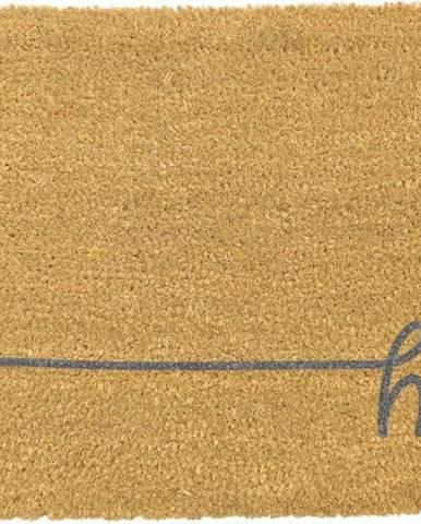 Šedá rohožka z přírodního kokosového vlákna Artsy Doormats Hey Scribble,40x60cm