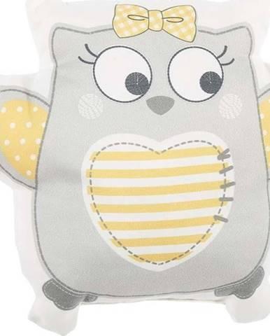 Šedý dětský polštářek s příměsí bavlny Mike&Co.NEWYORK Pillow Toy Owl, 32 x 26 cm