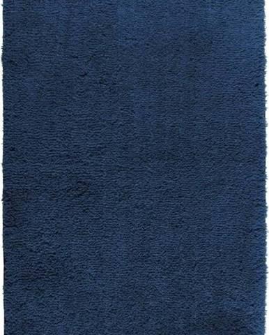 Tmavě modrá koupelnová předložka Wenko Belize, 55x65cm