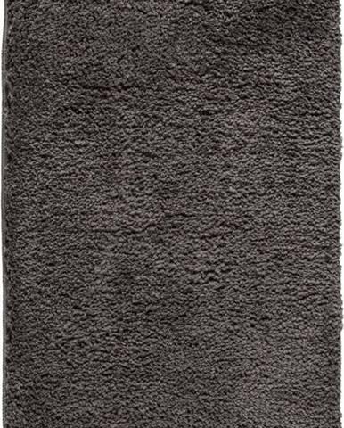 Tmavě šedá koupelnová předložka Wenko Belize, 90x60cm