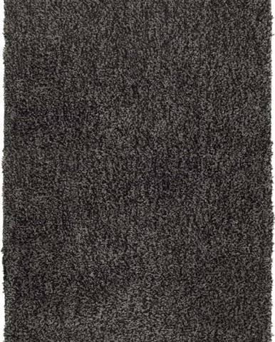 Tmavě šedá koupelnová předložka Wenko Mélange, 90x60cm