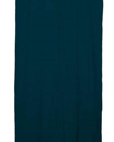 Tmavě tyrkysový závěs Linen Cuture Cortina Hogar Turquoise