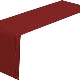 Karmínově červený běhoun na stůl Unimasa, 150 x 41 cm
