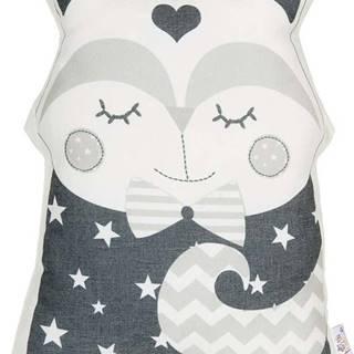 Šedý dětský polštářek s příměsí bavlny Mike&Co.NEWYORK Pillow Toy Smart Cat, 23 x 33 cm