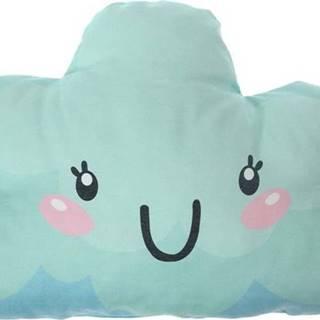 Tyrkysový dětský polštářek s příměsí bavlny Mike&Co.NEWYORK Pillow Toy Arro, 21 x 40 cm