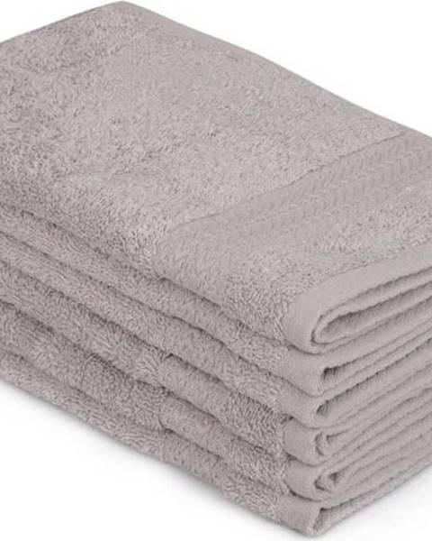 Hobby Sada 6 šedých bavlněných ručníků Madame Coco Lento Gris, 30 x 50 cm