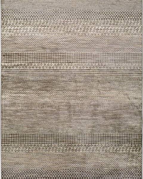 Universal Šedý koberec z viskózy Universal Belga Beigriss, 70 x 110 cm