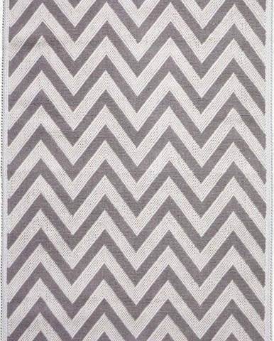 Béžový bavlněný koberec Vitaus Zikzak, 100 x 150 cm