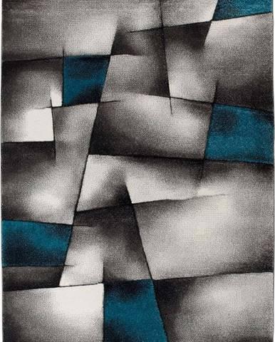 Modro-šedý koberec Universal Malmo, 60x120cm