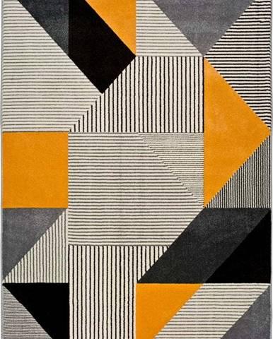 Oranžovo-šedý koberec Universal Gladys Duro, 140 x 200 cm