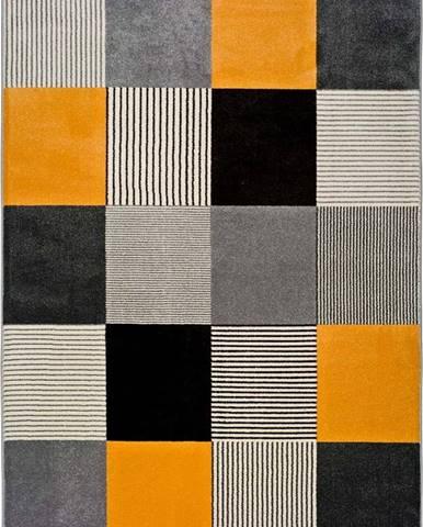 Oranžovo-šedý koberec Universal Gladys Lento, 80 x 150 cm
