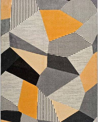 Oranžovo-šedý koberec Universal Gladys Sarro, 160 x 230 cm