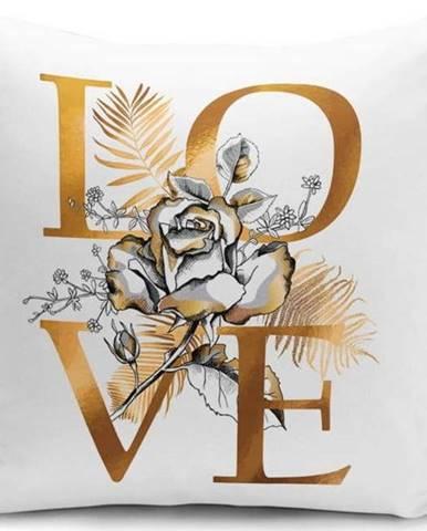 Povlak na polštář Minimalist Cushion Covers Golden Love Sign, 45 x 45 cm