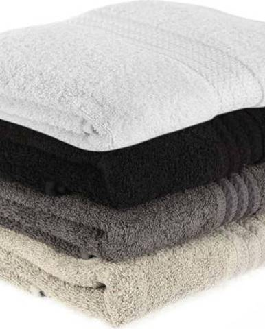 Sada 4 bavlněných ručníků Rainbow Shadow,50x90cm