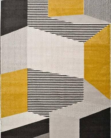 Šedo-béžový koberec Universal Elle Multi, 140 x 200 cm