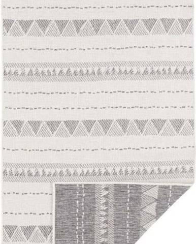 Šedo-krémový venkovní koberec Bougari Bahamas, 80 x 250 cm