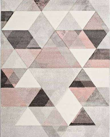 Šedo-růžový koberec Universal Pinky Dugaro, 60x120cm