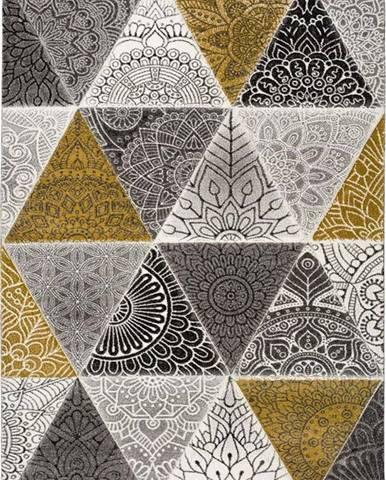 Šedo-žlutý koberec Universal Amy Grey, 140 x 200 cm