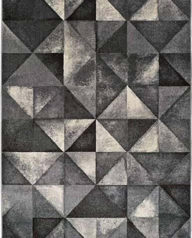 Šedý koberec Universal Delta Triangle, 190x280cm