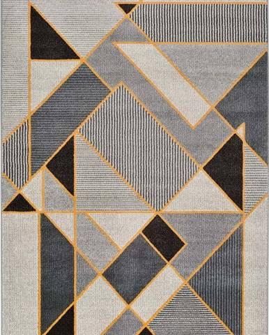 Šedý koberec Universal Leo Geo, 140 x 200 cm
