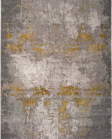 Šedý koberec Universal Mesina Mustard, 80x150cm