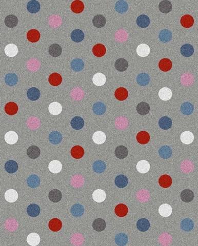 Šedý koberec Universal Norge Dots, 80x150cm