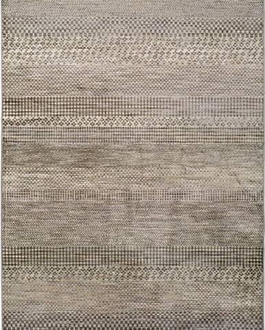 Šedý koberec z viskózy Universal Belga Beigriss, 70 x 110 cm