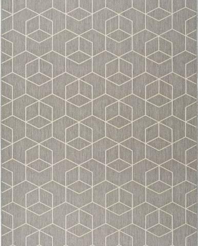 Šedý venkovní koberec Universal Silvana Gusmo, 80x150cm