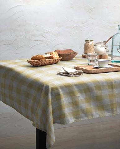 Ubrus Linen Couture Beige Vichy, 140 x 140 cm
