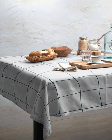 Ubrus Linen Couture Turquoise Lines, 140 x 200 cm