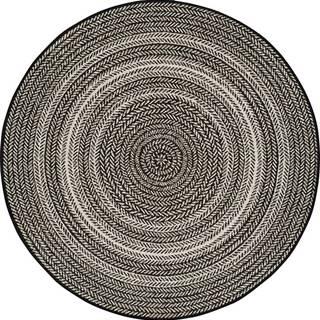 Černý venkovní koberec Universal Silvana Rutto, ⌀ 120 cm