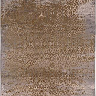 Šedo-zlatý koberec Universal Danna Gold, 60 x 120 cm