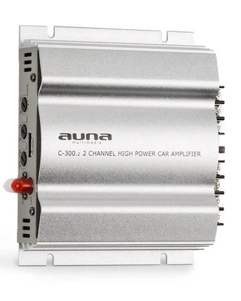 Auna Auna C300.2, 2kanálový zesilovač, koncový zesilovač do auta, 800W PMPO, 200W RMS, stříbrný