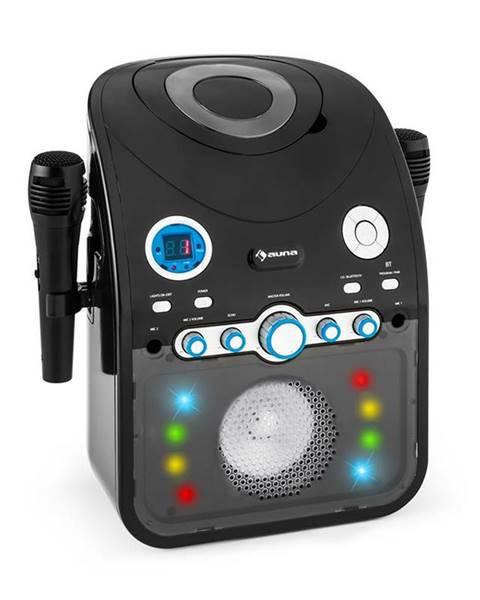 Auna Auna StarMaker, karaoke systém, CD, bluetooth, AUX, LED světelný efekt, 2 x mikrofon